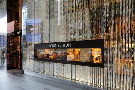 Louis Vuitton boutique in Hong Kong Stock Photo - 10559181