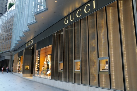Gucci boutique in Hong Kong