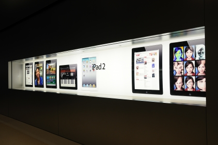 Window display of ipad in Hong Kong Apple store