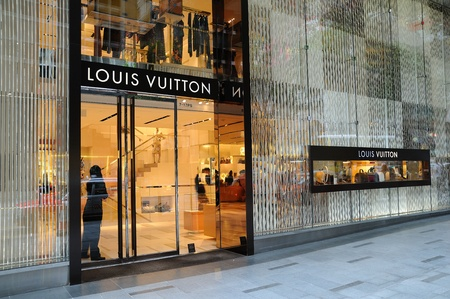 louis vuitton: Louis Vuitton boutique a Hong Kong Editoriali