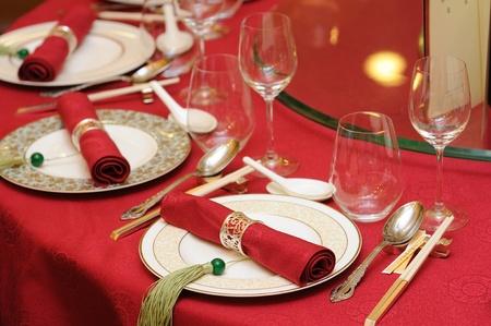 mesa para banquetes: Banquete de boda chino cuadro en el