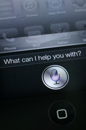 Close up of Siri on iphone 4s