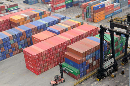 Containers in Hong Kong Kwai Chung Container Terminal