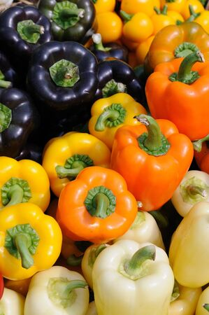 bell peppers: Assorted color of bell peppers background Stock Photo