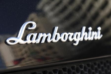 lamborghini: Lamborghini logo on an automobile. Lamborghini is an Italian car manufacturer. Editorial