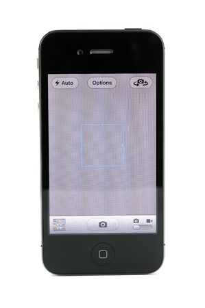 4s: Apple iphone 4s camera screen, isolated in white background