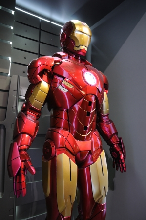Iron Man Mark IV statue display in an exhibition at a shopping centre, Hysan Place in Hong Kong