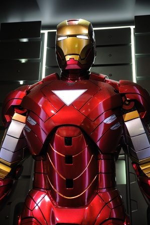 Iron Man Mark VI statue display in an exhibition at a shopping centre, Hysan Place in Hong Kong Redakční