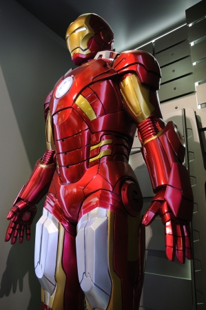marvel: Iron Man Mark VII statue display in an exhibition at a shopping centre, Hysan Place in Hong Kong