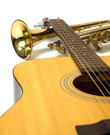 trompeta: Instrumentos musicales Foto de archivo