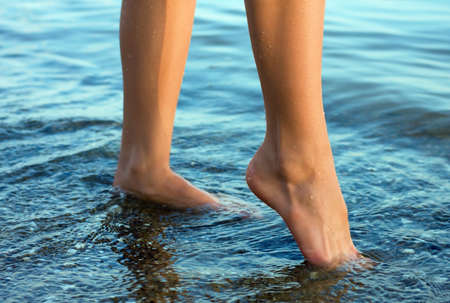 nice legs in water Stock Photo - 5287736