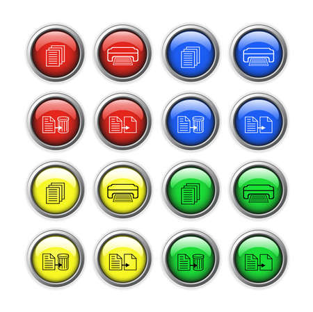 Vector buttons for web design. Vector