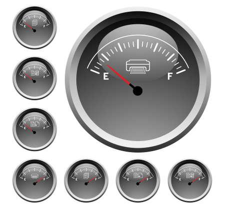 Paper, printer speedometer Illustration