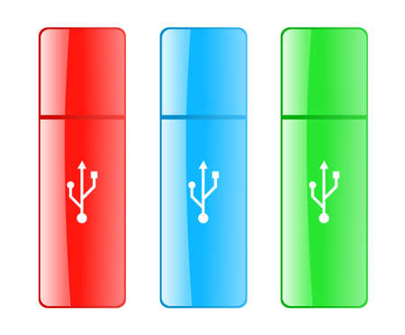 gigabyte: Colored USB flash drive