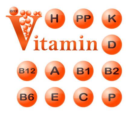 b1: Vitamins. VECTOR. Illustration