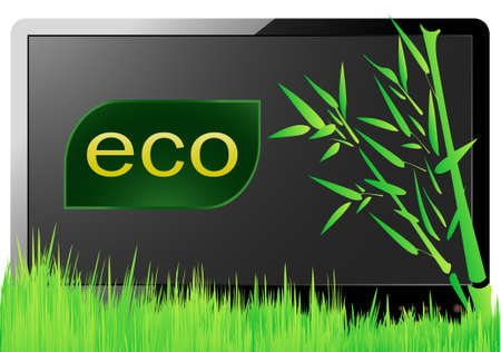 Eco monitor Vector