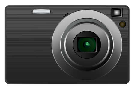 Digital photo camera, vector illustration