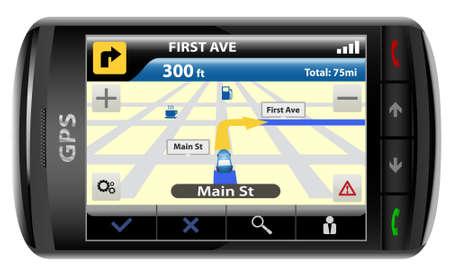 Modern GPS,  vector illustration Stock Vector - 6033092