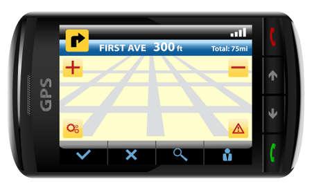 distant:  Modern GPS, vector illustration Illustration