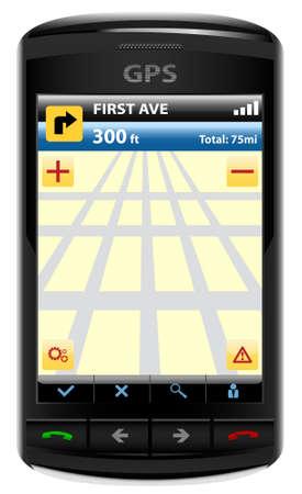 Modern GPS, vector illustration Stock Vector - 6065851