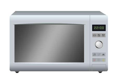 Modern microwave. Vector. Stock Vector - 6167132