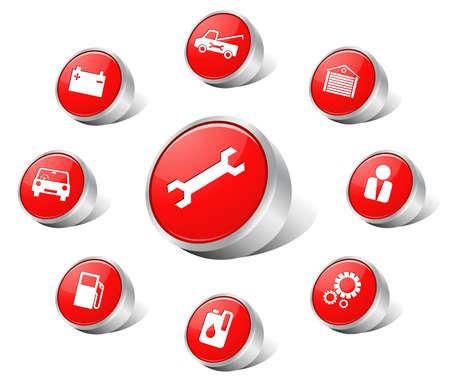 medicine wheel:  Red auto icons