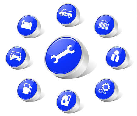 Auto icons blue
