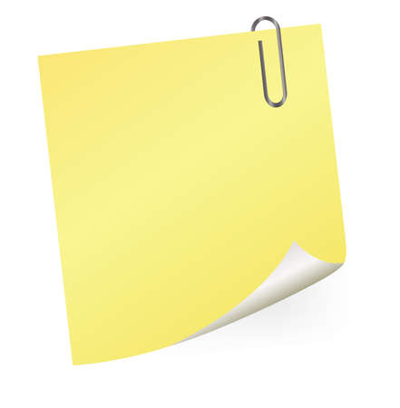 memo board: yellow sticky note Illustration