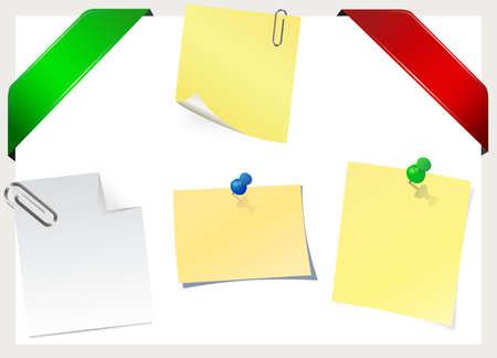 nastro angolo: Angolo nastro & sticky note Vettoriali