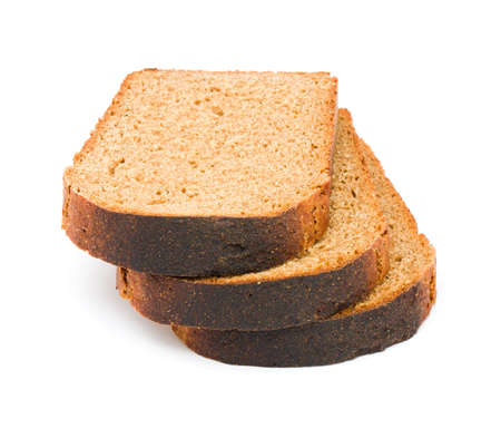 Bread slice isolated on white  photo