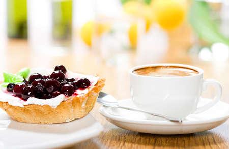 orange tart: Dessert and coffee