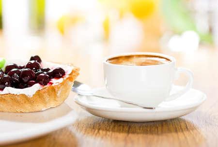 tazas de cafe: Postre y café