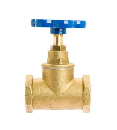 Water valve isolated on white background  photo