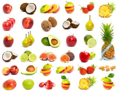 citricos: Un conjunto de fruta de mezcla  Foto de archivo