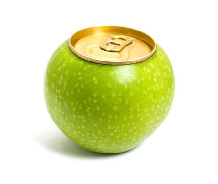 juice fruit: Concetto di mela verde  Archivio Fotografico