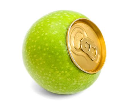 青リンゴの概念 写真素材