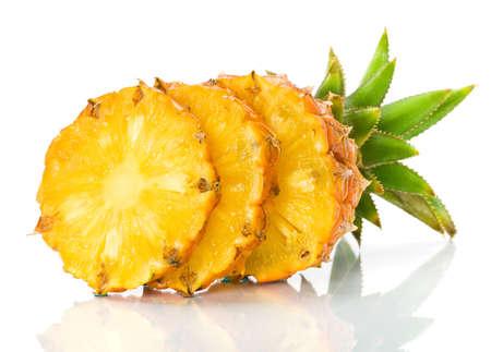 Fresh slice pineapple photo