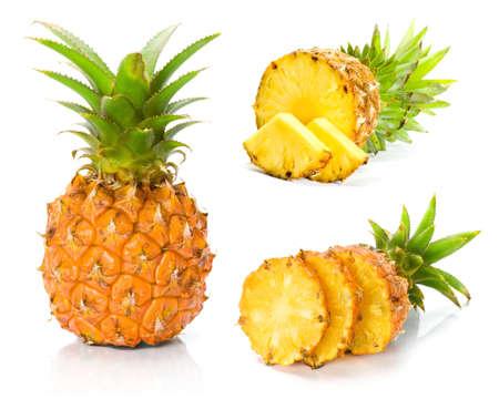 新鮮なスライス パイナップル 写真素材