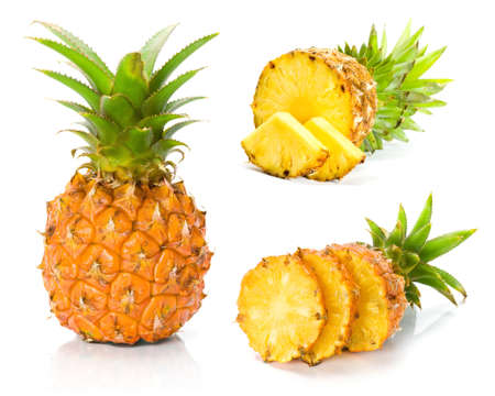 single object: Fresh slice pineapple