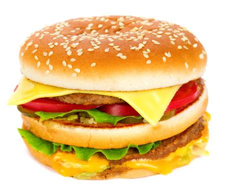 cheeseburger isolated on white  Stock Photo
