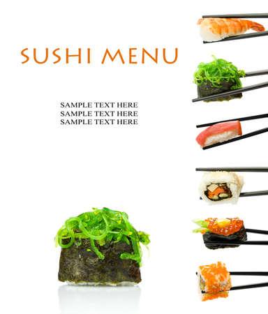 prepared food: Sushi menu