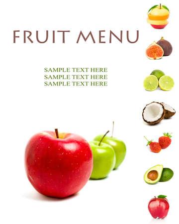 jugo de frutas: MENÚ DE FRUTAS