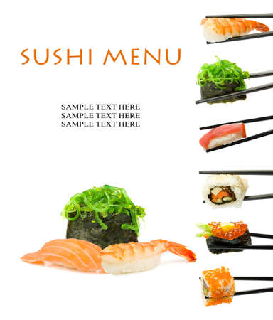japanese culture: Sushi menu  Stock Photo