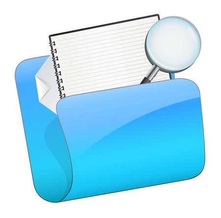 File folder icon Illustration