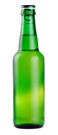 condensate: Beer bottle isolated on white