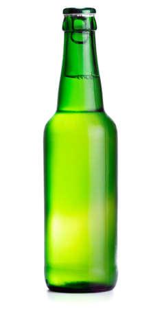luxuriate: Beer bottle isolated on white