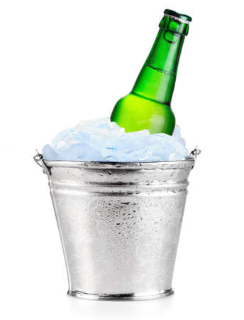 beer in ice  photo