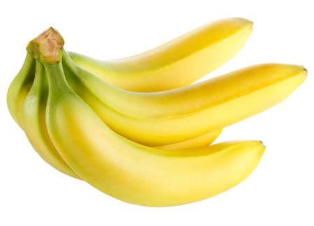 白い背景で隔離熟したバナナ 写真素材 - 12021983