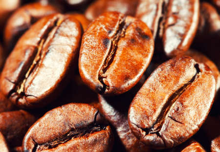 Coffee beans. Macro. photo