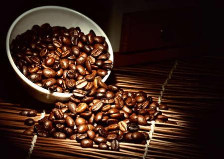 granos de cafe: Café de fondo Foto de archivo